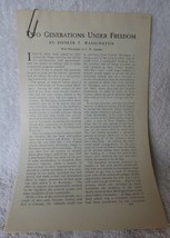 1903 Outlook Magazine 16 Pages Two Generations Under Freedom Booker T Wa... - $9.90