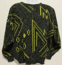 Mr. Rodia Vintage 80's Geometric Sweater Black Yellow Chunky Mens Large ... - $19.77