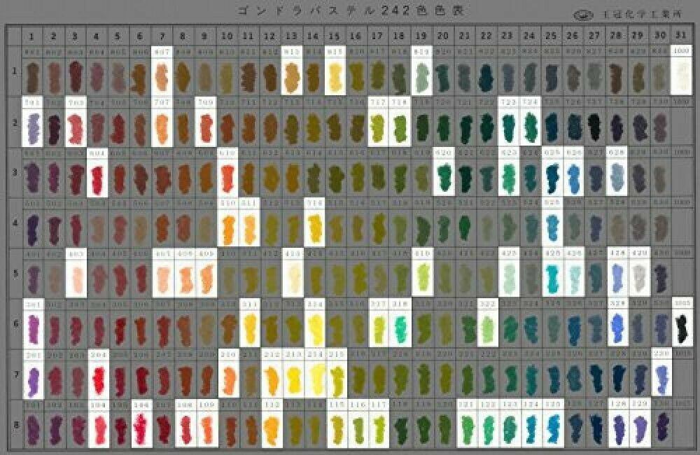 GONDOLA PASTEL 66 colors set Handmade Soft Pastels From Japan
