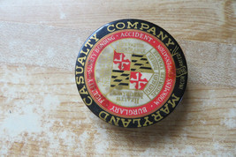Maryland Casualty Co insurance 2 sided advertising desk paperweight inco... - $61.75