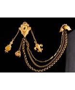 Antique  medieval Chatelaine - cloak clasp - mens lapel pin - womens cap... - $175.00