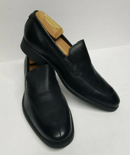 Primary image for New Cole Haan Men's Black Leather Splittoe Loafers Lennox Venetian Shoes Size 8M