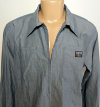 NWT Primitive Men's Hooper Work Casual Shirt SB 1/4 Zip Blue L Skateboard New - $24.75