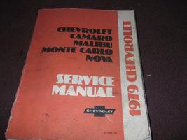 1979 Chevy Monte Carlo Camaro Nova Malibu Servicio Tienda Reparar Manual Nuevo - $119.60