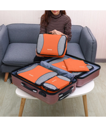 Gonex Travel Storage Bag Set Suitcase Luggage Organizer Hanging - Orange - £18.09 GBP+