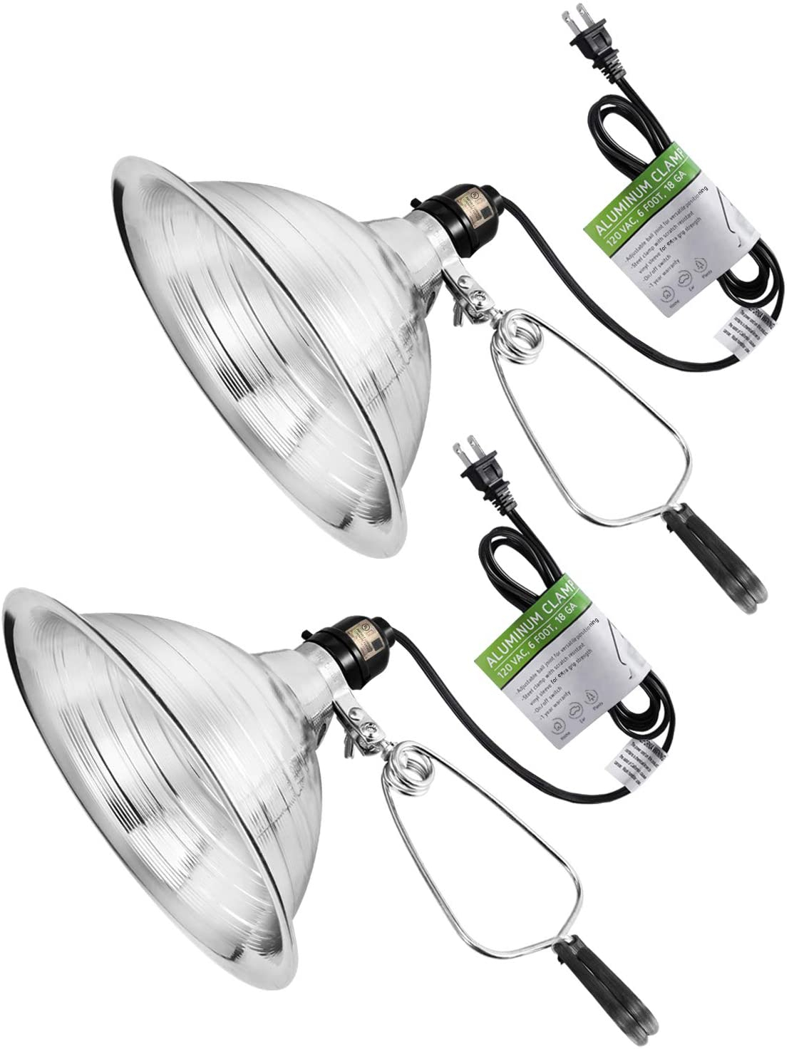 VIVOSUN Clamp Lamp Light with Detachable 8.5 Inch Aluminum Reflector up to 150 W - $23.99 - $97.99