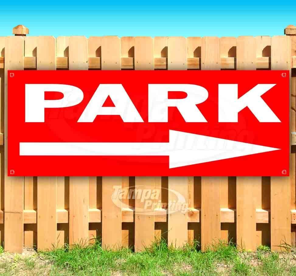 Primary image for PARK RIGHT ARROW RED2 Advertising Vinyl Banner Flag Sign Many Sizes DIRECTIONAL