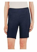 NWT Hilary Radley Women's Bermuda Short (Navy/Off White, X-Large) - $18.80