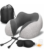 Travel Pillow 100% Pure Memory Foam Neck Pillow Comfortable & Breathable... - $29.68