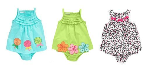 Baby Girl's Sunsuit Dress First Impressions Infant One-piece
