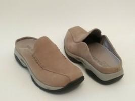 MERRELL Primo Seam Sand Comfort Mules-Moc Shoes Nubuck Tan Womens Size 7.5 - $42.03