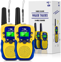 Tesoky Walkie Talkies For Kids, 3Km+ Long Range Kids Walkie Talkies With... - $28.80