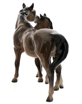 Hagen-Renaker Miniature Ceramic Horse Figurine Thoroughbred Mare and Colt Set  image 5