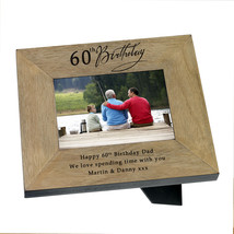 60th Birthday Present Photo Frame Him Her with engraved message Unique  #1 - $38.48