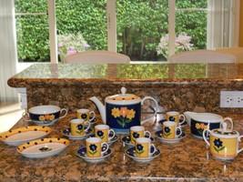 """Vista Alegre """"Vista"""" Coffee Set- 22 Stunning Pieces - $99.00"""
