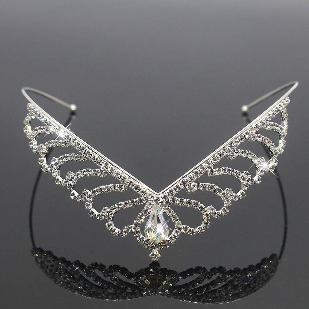 Primary image for Crystal Princess Tiaras And Crowns For Girls Hair Accessories Headband Crown Rhi