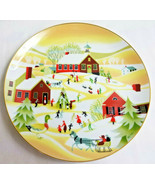 Betsey Bates Decorative Christmas Plate The Village School Winter Scene ... - $24.95