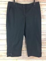 Ann Taylor LOFT Capri Pants 4P Marisa Cropped Cotton Blend 4 Petites Bla... - $23.16