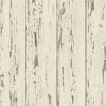 Shiplap Wallpaper Cream, French Vanilla, Brown Norwall Wallcovering FH37528 - $34.64