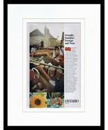 1965 Ontario Canada Travel Tourism Framed 11x14 ORIGINAL Vintage Adverti... - $41.71
