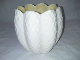 Beleek Ireland Pineapple Vase Green Mark Antique Iridescent Inside 4 Inc... - $28.99