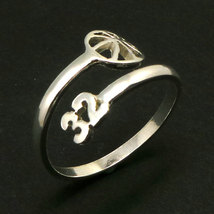 925 Silver Custom Basketball Mom Number Ring  image 3