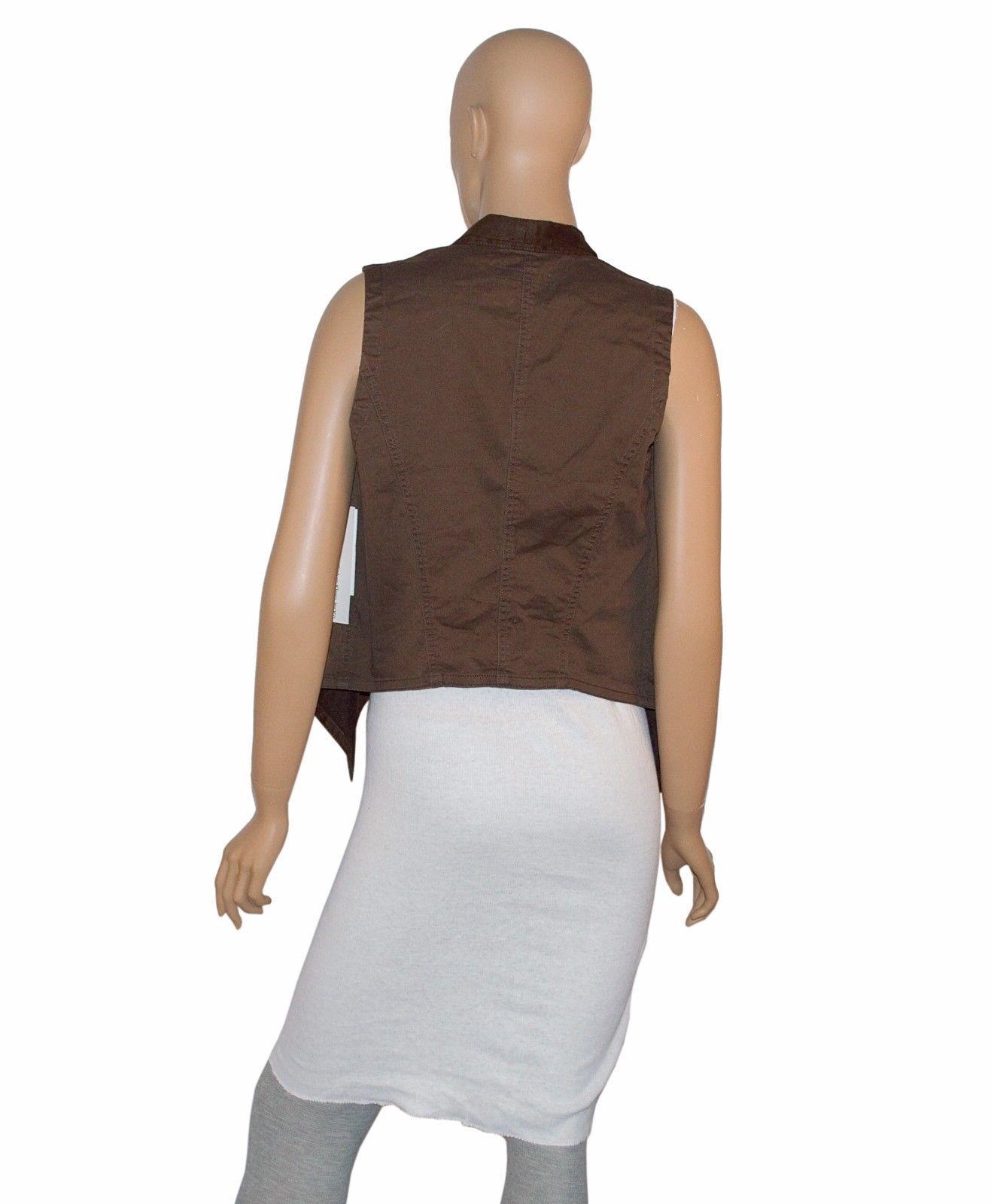 Calvin Klein Jeans Women's Vest Top Slate Brown Cotton Size Small $79.50