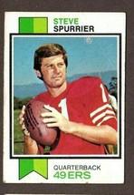 1973 TOPPS FOOTBALL #481 STEVE SPURRIER CARD- SAN FRANCISCO 49ERS - $2.92
