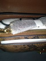 New Calvin Klein Snake Lock Shoulder Bag python-print crossbody H9DES9ZF $248.00 image 6