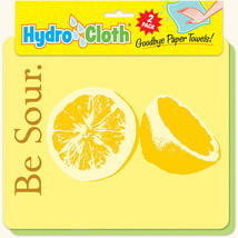 New Paper Towel Alternative Lemon Theme Reusable Washable Hydrocloth Great Gift