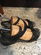 DANSKO Womens Black Leather Strappy Sandals 39 / 8.5-9 - $29.65
