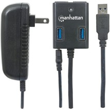 Manhattan 162302 SuperSpeed USB 3.0 Hub with AC Adapter - $45.76