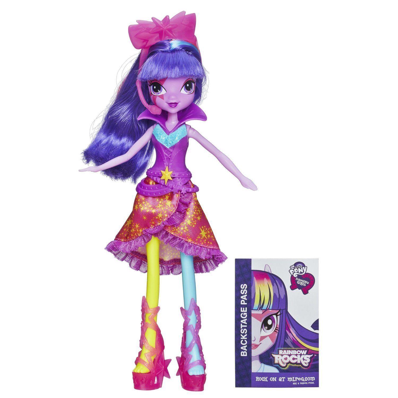 Rockin' My Little Pony Equestria Girls Neon Rainbow Rocks Twilight Sparkle Doll for sale  USA