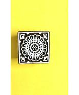 Decorative wooden stamps block print textile fabric heena print sqare pr... - $11.83