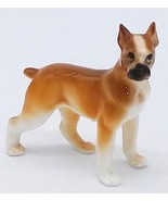 Miniature Porcelain Boxer Dog Figurine Collectible Glossy Hagen Renaker?... - $16.82
