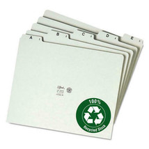 Gray Green Smead Recycled A-Z Pressboard File Guides (1/5 Cut Tab, Letter) - $33.45