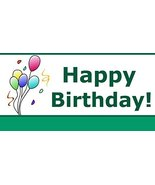 Happy Birthday Banner With Balloon Images 3' x 6' - $45.54