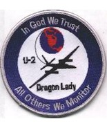 4 USAF AIR FORCE U-2 DRAGON LADY BLUE WHITE BORDER EMBROIDERED JACKET PATCH - $18.99