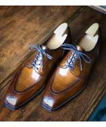 Handmade Chestnut Derby Oxfords Leather Shoes For Men, Best Formal Shoes... - $159.99+