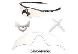 Galaxy Replacement Clear Lenses  White Nose Pad  White Earsocks For Oakley M Fra - $39.95