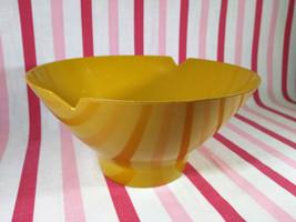FaB Mid Century Modern Harvest Gold Melmac Noodle Rice Bowl w/ Cutouts - $8.00