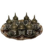 27 Pcs Ottoman Turkish Greek Arabic Coffee Serving Cup Saucer Gift Set C... - $64.29