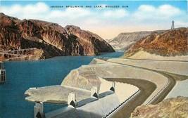Linen Postcard NV E279 Arizona Spillways Lake Hoover Boulder Dam Colorad... - $5.00