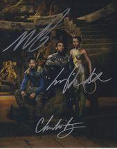 Chadwick Boseman, Michael B. Jordan & Lupita Nyong Signed Glossy 8x10 Photo - $299.99