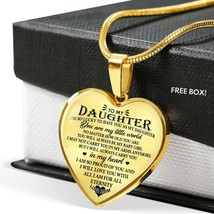 Live Loves Daughter Heart Shape Pendant Necklace Gift For Daughter From Dad - $31.30+