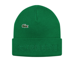 Dswt Supreme FW19 Lacoste Beanie Green *In Hand 100% Authentic! - $99.99