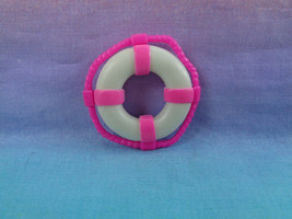Mattel Polly Pocket Replacement Pool Deck Accessory Pink / White Lifesaver - $2.23