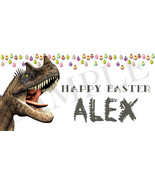 Ceratosaurus Easter Basket Sticker, Personalized Dinosaur Easter Basket ... - $3.25+