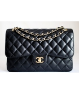 CHANEL Black CAVIAR Quilted Leather Classic JUM... - $4,929.00