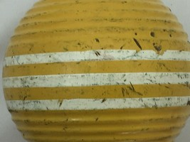"""Vintage Forster Croquet Ball Yellow 3 Stripe Ribbed 3"""" 26346 - $29.69"""
